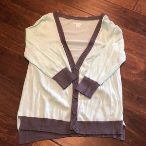 Like knew button up cardigan MINT AND GREY! Sz L